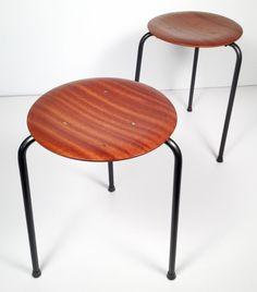 Arne Jacobson Vintage Stools. Lightweight and modular.