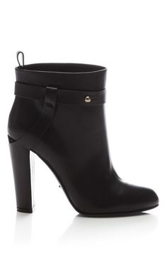 Fashion Month Must: Wear everyday ankle boots, Leather Ankle Boot by Sergio Rossi Now Available on Moda Operandi
