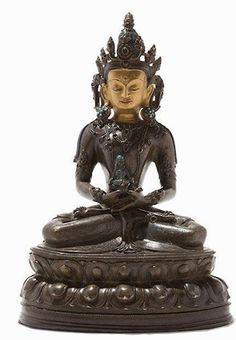 Tibet, Amitabha Buddha, Buddhist Art, Himalayan, Asian Art, Art Art, Statue, Himalayan Cat, Buddha Art