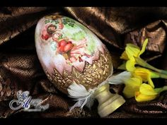 Decoupage Tutorial: Easter Egg with Clay Shell - DIY - YouTube
