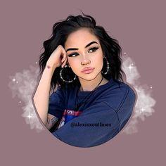 Pop Art Drawing, Cute Girl Drawing, Cartoon Girl Drawing, Girl Cartoon, Cartoon Art, Drawings Of Black Girls, Hipster Drawings, Girly Drawings, Cute Galaxy Wallpaper