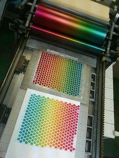 bubble wrap as letterpress plate.