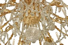 French Mid 19th Century Louis XVI St. Ormolu and Baccarat Crystal Chandelier image 4