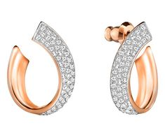 db46342ee Swarovski 5192261 Small, White, Rose gold plating Exist Pierced Earrings