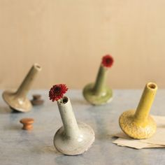 Perfect to add a little cheer on your desk!  Find it at the Foundary - Ceramic Drunken Vases - Set of 4
