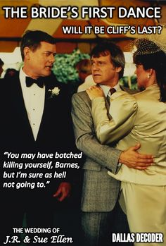 "Remember when Cliff made this big mistake at J.R. and Sue Ellen's wedding on ""Dallas""?"