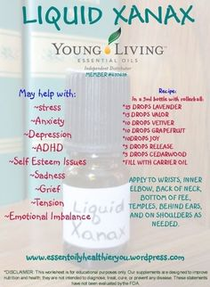 oil for aniexty Young Living essential oils~Liquid Xanax by agnes by agnes by agnes Young Living essential oils~Liquid Xanax by agnes by agnes by agnes Doterra Essential Oils, Natural Essential Oils, Essential Oil Blends, Essential Oils For Anxiety, Essential Oils For Baths, Valor Essential Oil, Essential Oil Spray, Cedarwood Essential Oil, Natural Oils