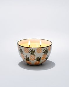 Tommy Bahama candles are simply the best. Pineapple Paradise Ceramic-Bowl Poured Three-Wick Candle