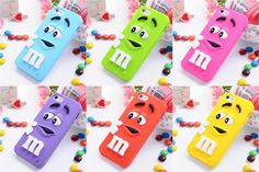 iPhone 6s 3D M&M Cartoon Character Silicon Soft Case Cover
