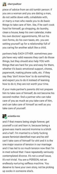 This is exactly what the feminist family therapy says, you are not a nurturing machine, who is selfless. << the truth fucking hurts, but it needs to be known. Quotes Thoughts, Life Quotes Love, Amy Poehler, Memes Marvel, Memes In Real Life, Funny Relationship, Relationship Problems, Faith In Humanity, Life Advice