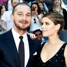 All smiles & style! We can't help but point out how perfect Kate Mara and her pixie cut are  Get Shia & Kate's look on the blog • link in bio • #TIFF15 #YorkdaleTIFF15