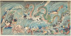Utagawa Kuniyoshi | Recovering the Stolen Jewel from the Palace of the Dragon King | Japan | Edo period (1615–1868) | The Metropolitan Museum of Art