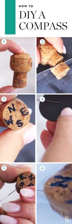 Here's how to DIY your very own compass. #compass #diy #crafts #diyproject #diycompass