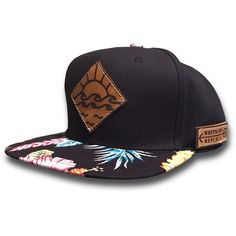 The Newport. Unique Handmade Leather Patch Design. Comfortable fit Outdoor Inspired Style Adjustable Snapback - one size fits most (adult sizes) JOIN THE REPUBLIC, WEAR WESTWARD.