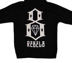 REBEL8 Logo Men's Zip Hood Black