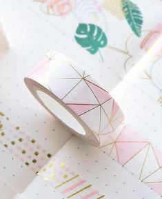 Pink Foil Paper Washi Tape Kawaii Stationery Scrapbooking Decorative Tapes New Arts And Crafts Storage, Arts And Crafts For Teens, Art And Craft Videos, Arts And Crafts House, Teen Crafts, Washi Tape Crafts, Washi Tapes, Bujo Planner, Masking Tape Art