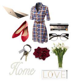 """AT HOME!"" by daniela997 on Polyvore featuring interior, interiors, interior design, Casa, home decor, interior decorating, LE3NO, Wet Seal, CB2 e Bobbi Brown Cosmetics"
