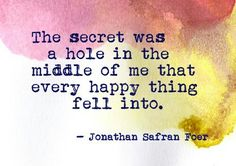 The Painted Bench - Jonathan Safran Foer on imgfave Jonathan Safran Foer, Inspire Me, The Secret, Favorite Quotes, Tattoo Quotes, Wisdom, Writing, Sayings, Words
