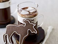 Homemade Hot Chocolate (not from a mix). Also love the moose cookie!