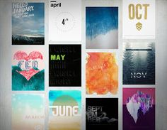 The 365 Series, a collection of posters designed by the Cibo for each month of the year. Launches February 2015.