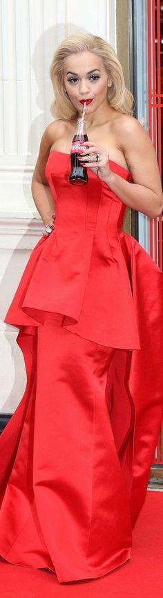 Rita Ora In Veni Vici Couture  – Coca Cola Contour Centenary Bar Photocall