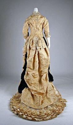 1875-78 ___ Dinner Dress by Mon. Vignon ___ silk & glass ___ French (Paris) ___ at The Metropolitan Museum of Art ___ photo 5