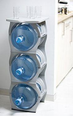 U Water Cooler Bottle Rack (Silver Three Bottle Rack with Shelf) Birando  & Cheap Price Zephyr Fluid Solutions 5 Gallon Water Bottle Storage Ra ...