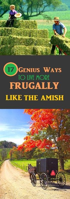 17 Ways To Live Frugally Like The Amish #amish #frugalliving #frugal