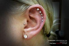 cool ear piercings for girls | Piercings Ear