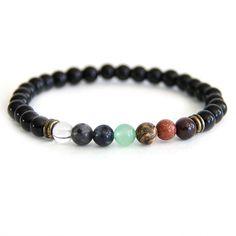 Leo - Zodiac Seven Chakra Balancing Bracelet