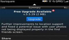 interesante Foursquare para BlackBerry OS se actualiza a la v5.5.29