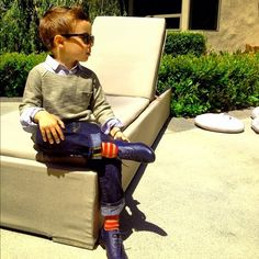 """This guy who subscribes to the philosophy """"the socks make the man."""" He's right. 