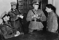 A young Jew is interrogated by the SS in Warsaw [note all members are Wehrmacht officers] Dachau KZ: Warsaw Concentration Camp Part 1