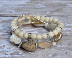 Trio of Shell Bracelets