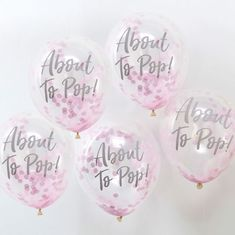 Party Decorations Balloons Bunting Confetti etc Baby Gender Reveal Range