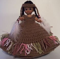 Crochet Indian Doll Made by Linda Weddle