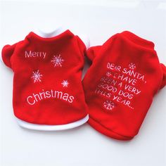 """""""Merry Christmas"""" Pet Puppy Clothing"""