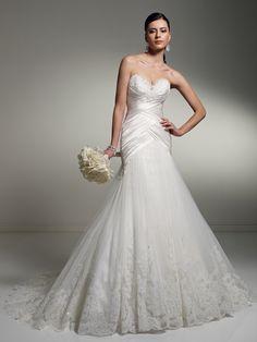 Sophia Tolli Wedding Dresses 2019 for Mon Cheri - Bridal Gowns Wedding Dresses Photos, Cheap Wedding Dress, Wedding Dress Styles, Designer Wedding Dresses, Bridal Dresses, Wedding Gowns, Tulle Wedding, Ivory Wedding, Mermaid Wedding