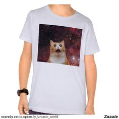 scaredy cat in space tee shirt