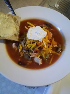 Homemade Chicken Tortilla Soup. Recipe based on a Barefoot Contessa recipe. Try it with black beans, garbonzo beans and kidney beans instead of chicken.