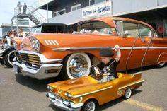 58 Impala - with a 58 Cadillac pedal car