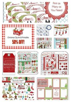 50% Off Christmas Printables and Digital Scrapbook Kits DIY fun #sale DigiScrapDelights on Etsy