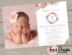 Christening Invitations, Instant Download Invitations, Baby Shower Invitations, Kids Party Invitations, Adult Invitations and Party Printables by Tweet Designs Party Boutique