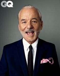 I seriously love so many things about this. Most notably his pocket square. bill-murray-gq-january-2013