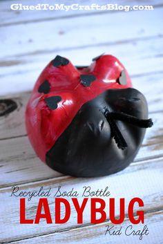Recycled Soda Bottle Ladybug {Kid Craft}
