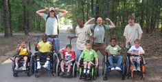 Participants and counselors in the Spina Bifida Week sessions ham it up for the camera at UM Camp Aldersgate, Little Rock, Ark. Photos courtesy of Camp Aldersgate.