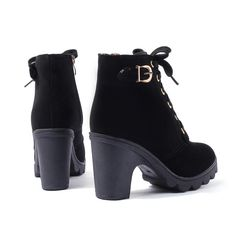 Platform Thick Leather Boots Ankle