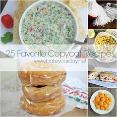 25 Favorite Copycat Recipes : bakeyourday --- awesome things in here!!!!!!! (really my comment (really!))