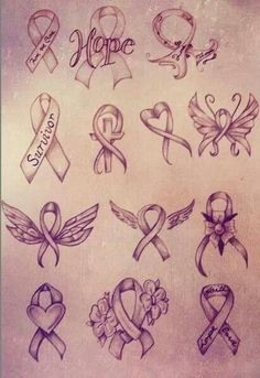 Cancer ribbon designs