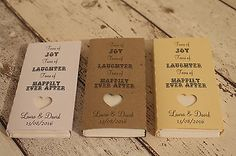 10 Rustic Personalised pocket tissues wedding favour Tears of joy..tear of laugh